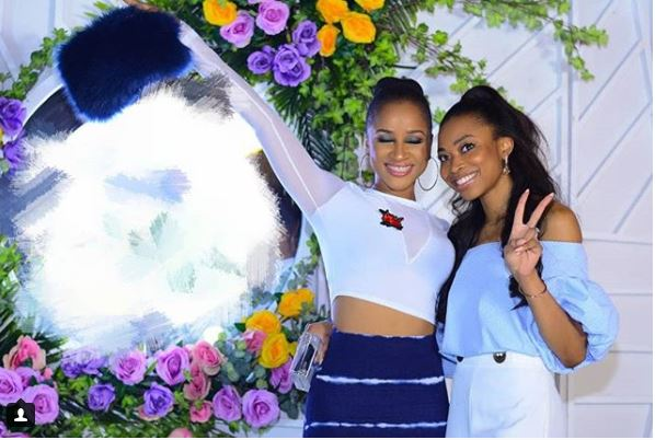 Adesua Etomi with friend theinfong