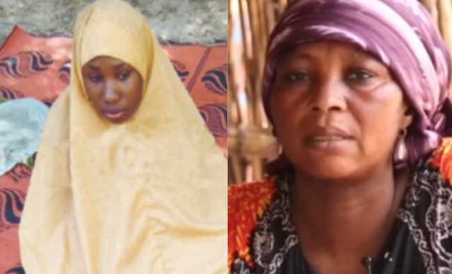 Leah Sharibu and mother theinfong