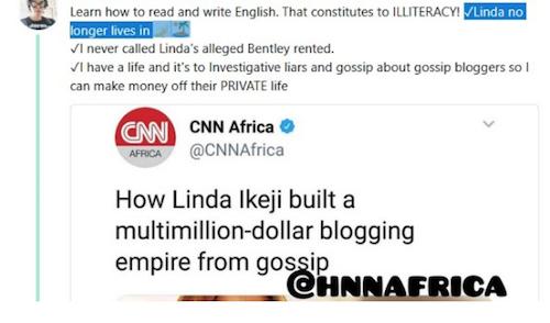 Linda Ikeji vacates her N500m Banana Island house; no longer lives there