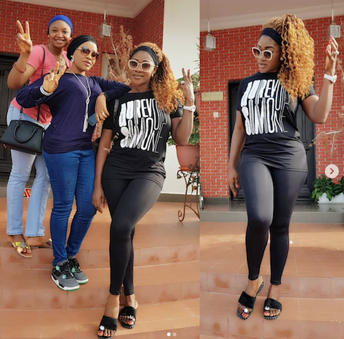 Mercy Johnson chilling with friends theinfong