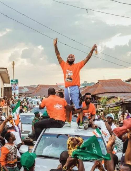 Davido during Osun State rally for Ademola Adeleke theinfong