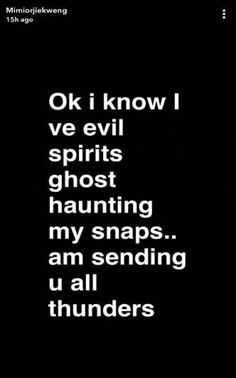 Mimi Orjiekwe post on Instagram