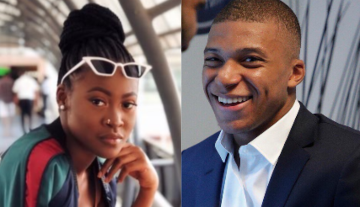 Mbappe and Nigerian lady