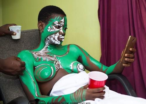 Nigerian girl painted