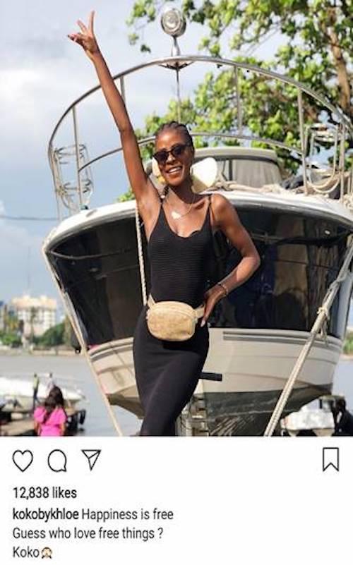 Khloe Instagram post