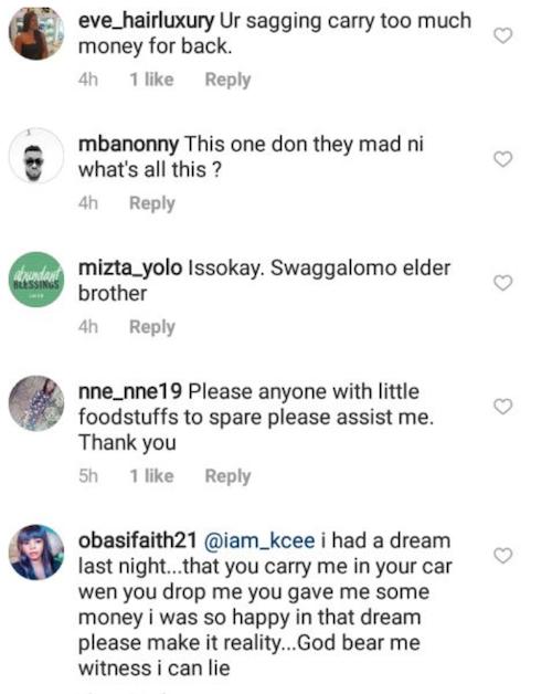 Fan blast KCee for sagging