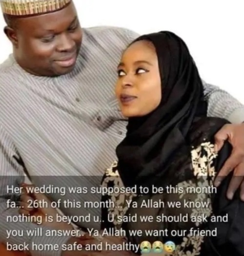 Zainab Hassan and husband to be