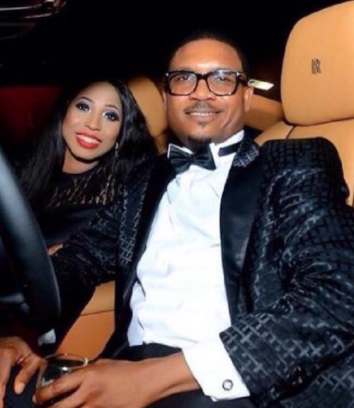 Shina Peller and wife Ayobola in car