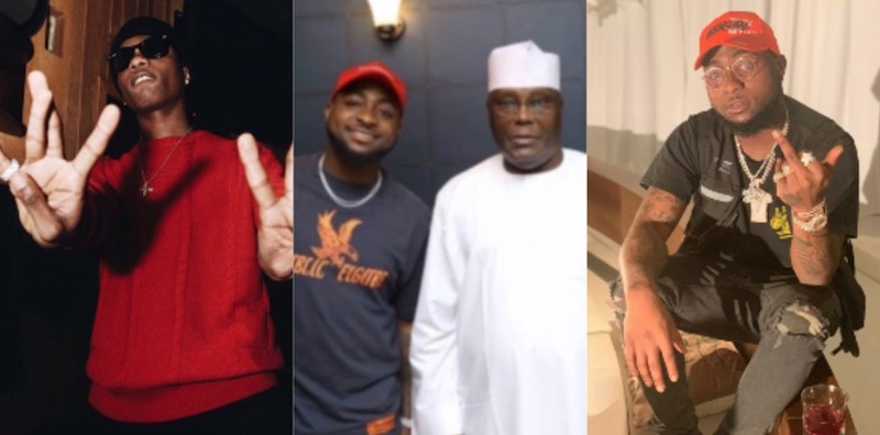 Davido reacts to Wizkid attacking him
