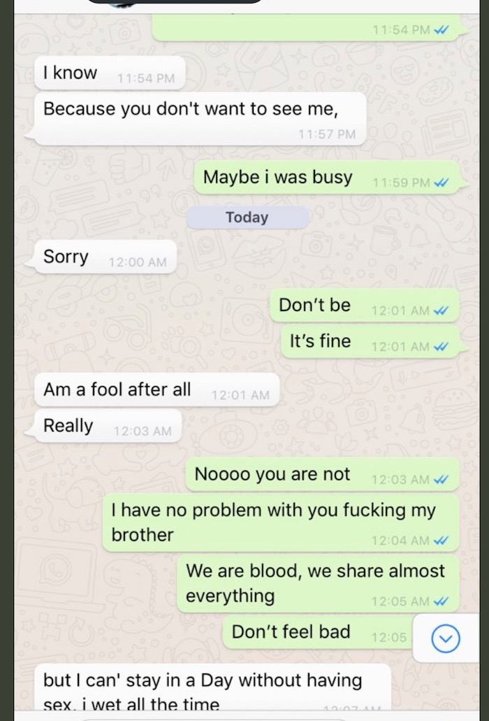 Nigerian Girl on Twitter who slept with 2 brothers