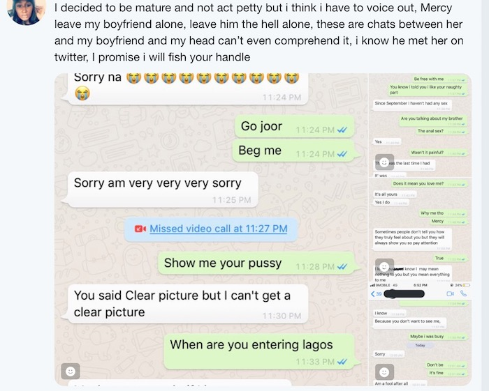 Nigerian Girl who slept with 2 brothers