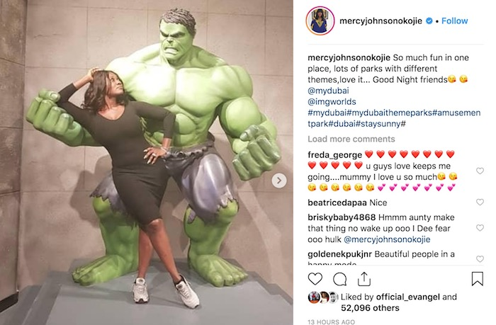 Mercy Johnson, Hulk - Dubai