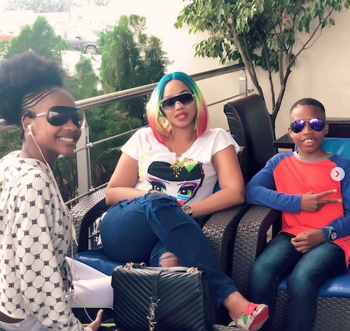 photos of Bolanle Ninalowo's wife and children