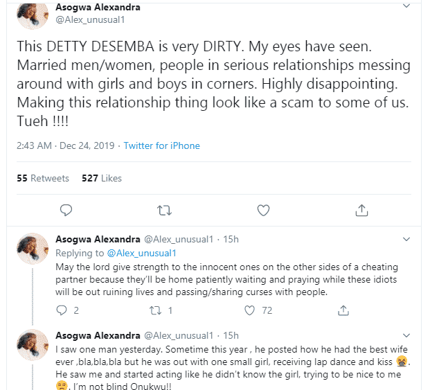 Alex exposes man cheating on wife