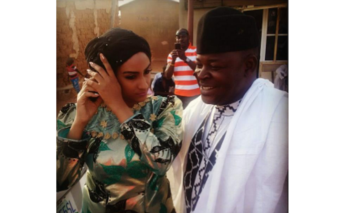 First photos from Juliet Ibrahim's traditional wedding theinfong.com 700x427