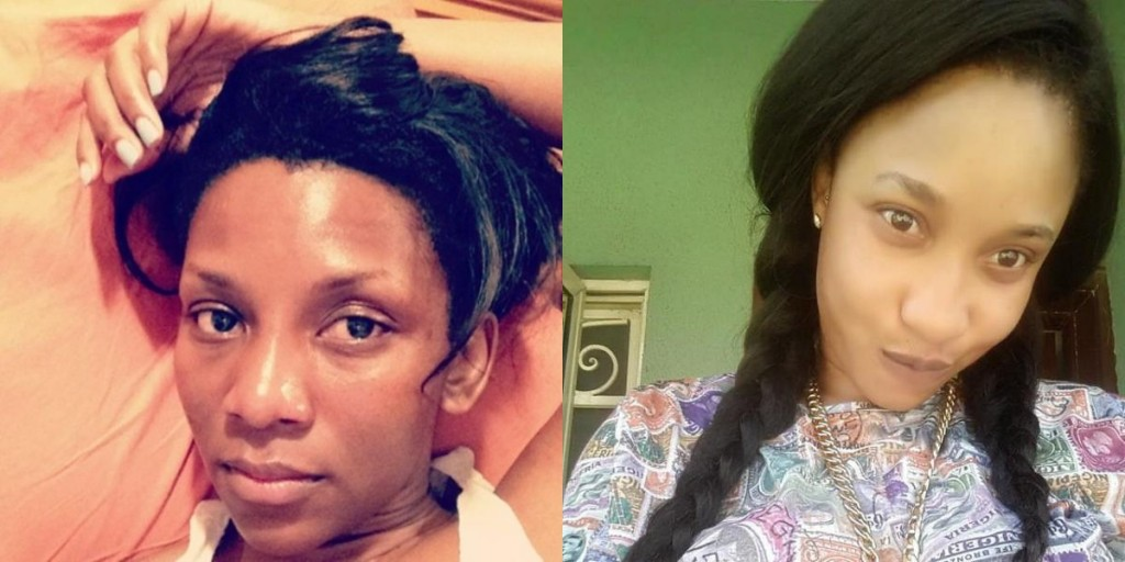 celebrities you won't be able to recognise theinfong.com -genevieve-nnaji-and-tonto-dikeh