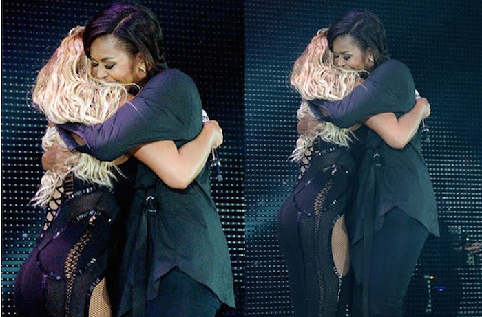 Michelle Obama and Beyonce embrace at Global Citizen Festival theinfong.com 700x461