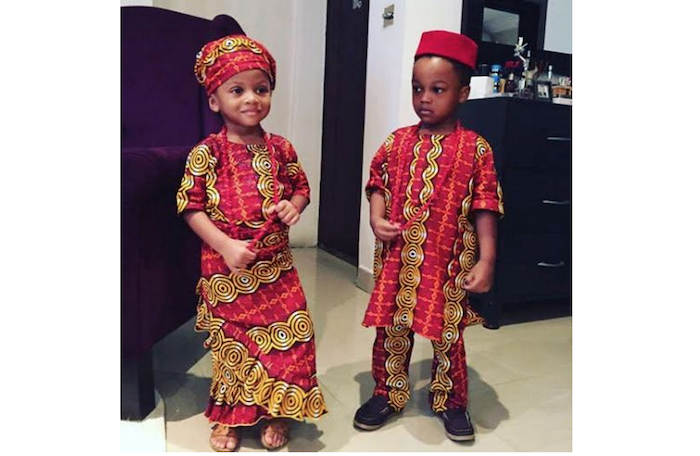 Nigerian celebrity children dress in their traditional attire to celebrate independence day - They look gorgeous! (+Pics) theinfong.com 700x456