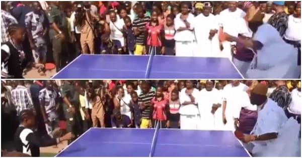 Ooni of Ife spotted playing tennis in interesting new video