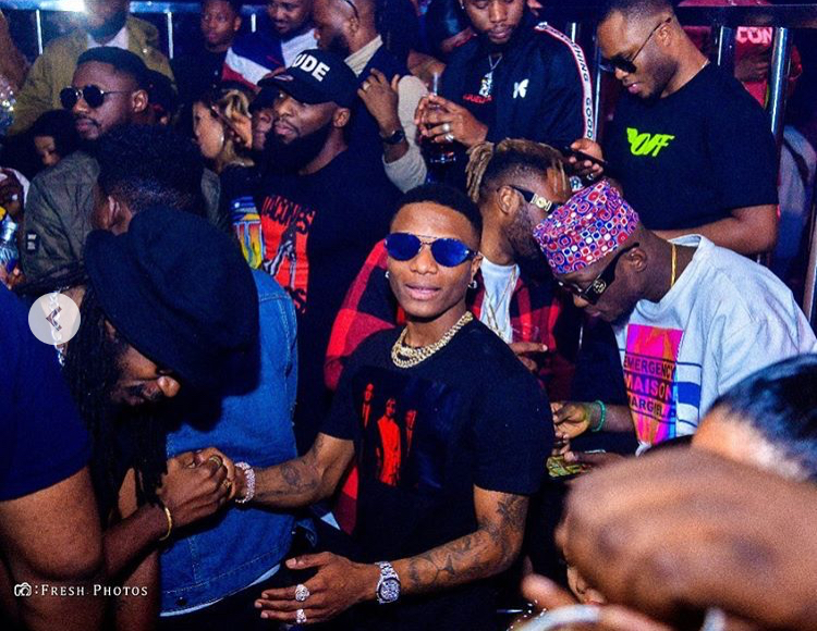 What went down last night when Wizkid storm Cubana night club in Ikeja (Photos)