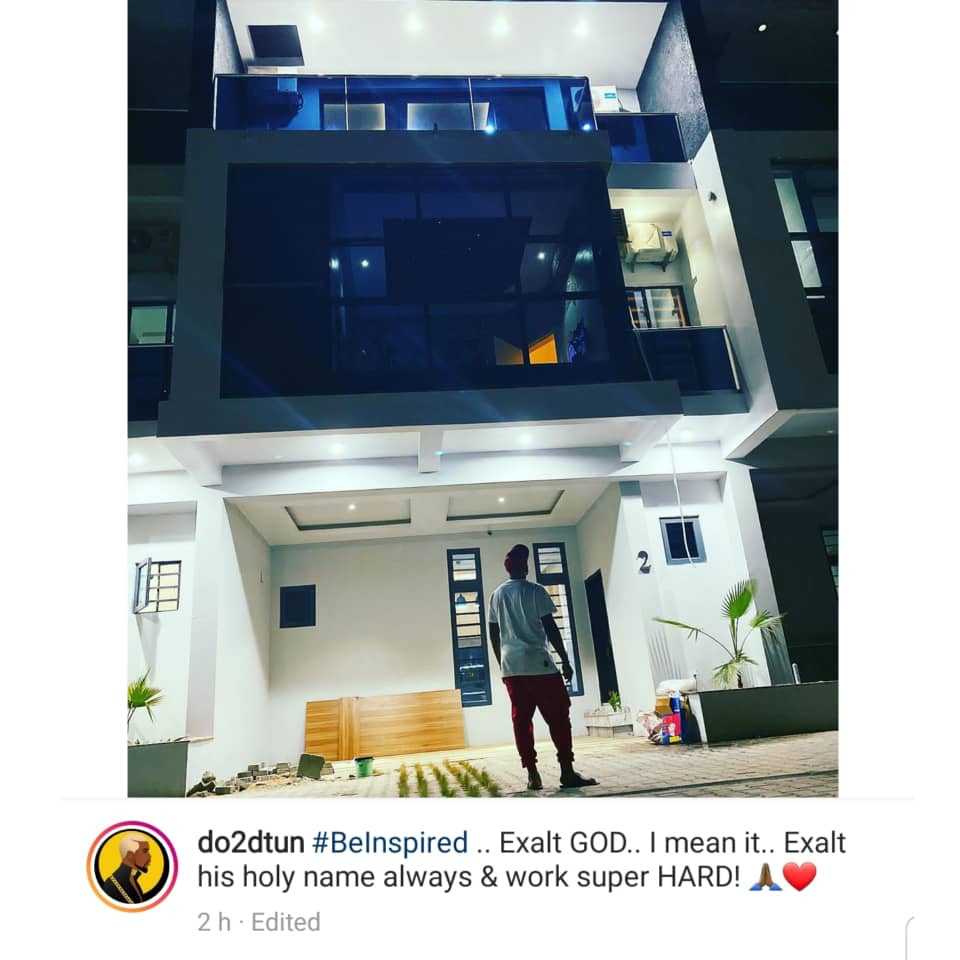 OAP, Dotun, flaunts his new mansion on social media