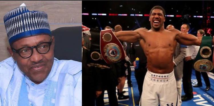 Anthony Joshua to present boxing titles to Buhari