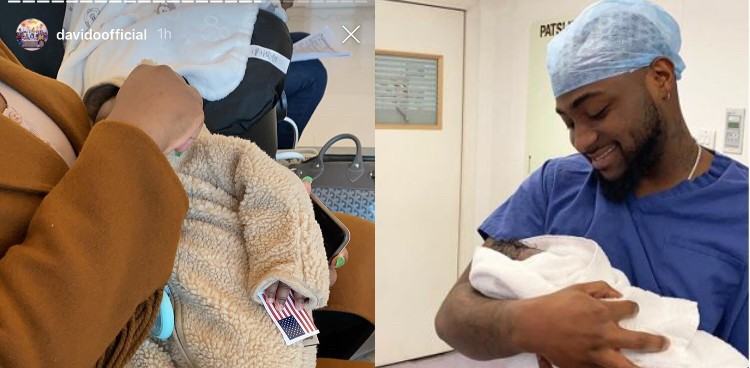 Davido's son, Ifeanyi officially becomes an American citizen