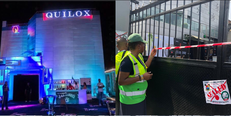 BREAKING! Quilox night club shut down by Lagos state government for polluting the environment with their activities (Photos)