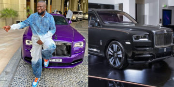 Nigerians mock Hushpuppi for selling his purple customized Rolls Royce (video)