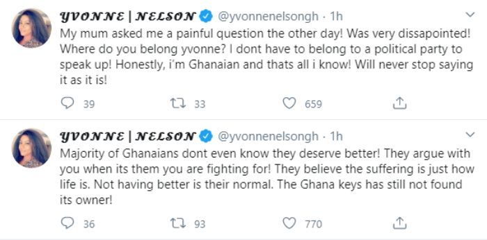 Yvonne Nelson says she is disappointed in her mother – blasts her on social media