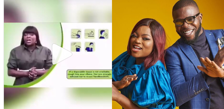 Video of Funke Akindele preaching social distancing as NCDC ambassador pops up after throwing party for her husband