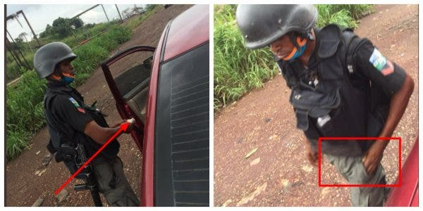 police officer extorts ex-corp members