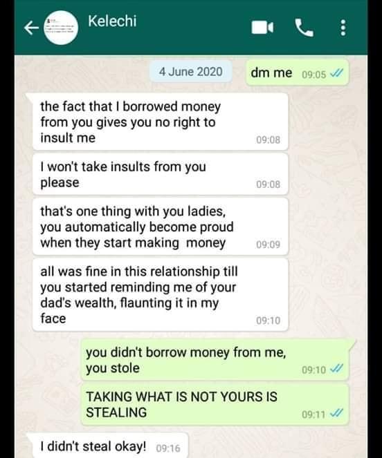 Kelechi-and-girlfriend-whatsapp-chat-screenshot