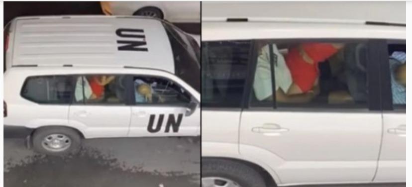 employee having sex in UN vehicle