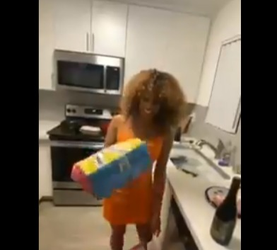 cheating wife dna result birthday gift  - 4 Man of Letters - Woman unwraps birthday gift given to her by husband only to find out it contains the DNA result of their daughter he had for another man behind his back (Video)