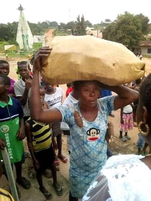 woman stole cassava in Abia