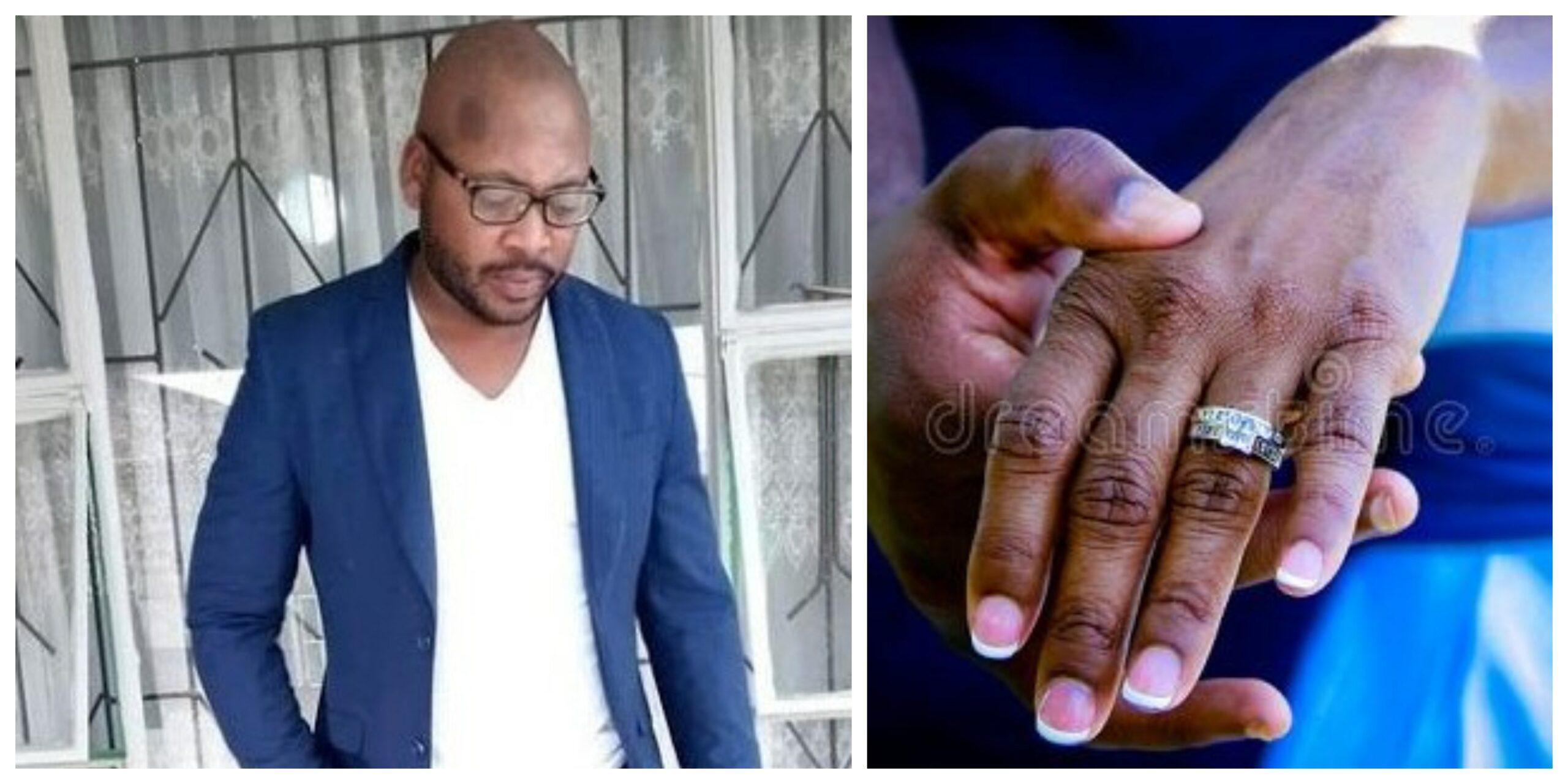 man ft engagement ring