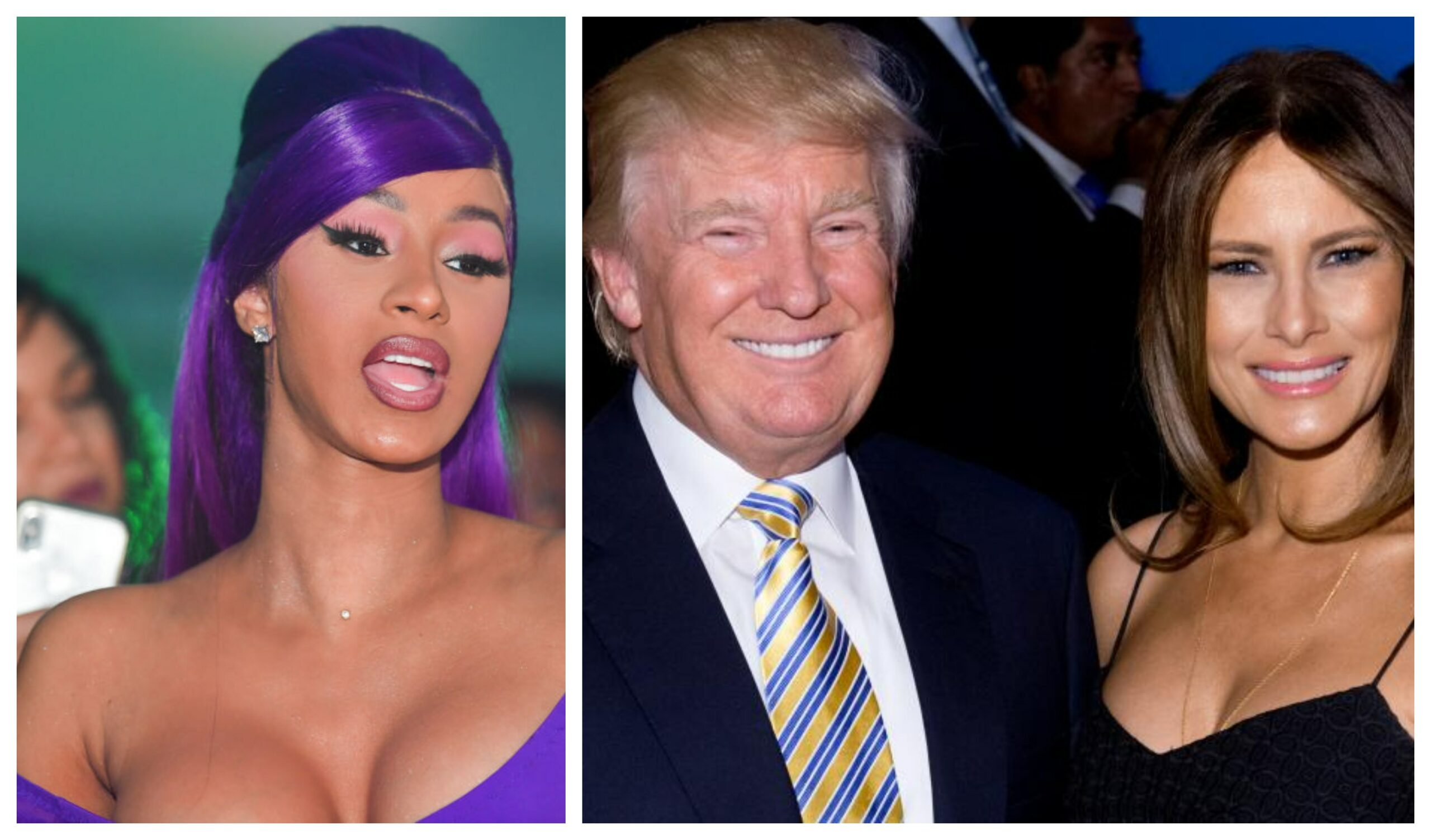 Rapper, Cardi_B Shares Naked Photos of Donald Trumps Wife