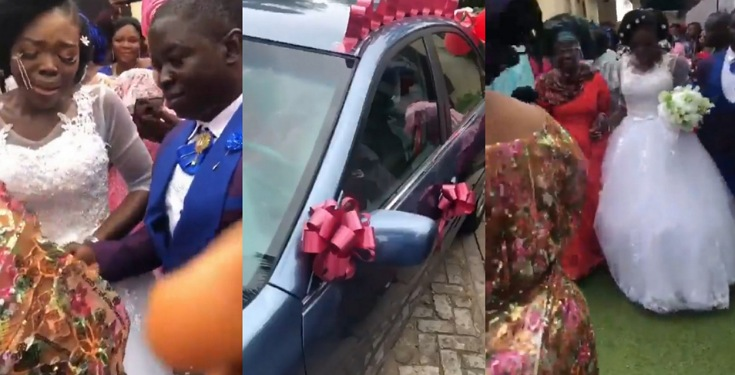 mother-gifts-bride-new-car-on-her-wedding-day