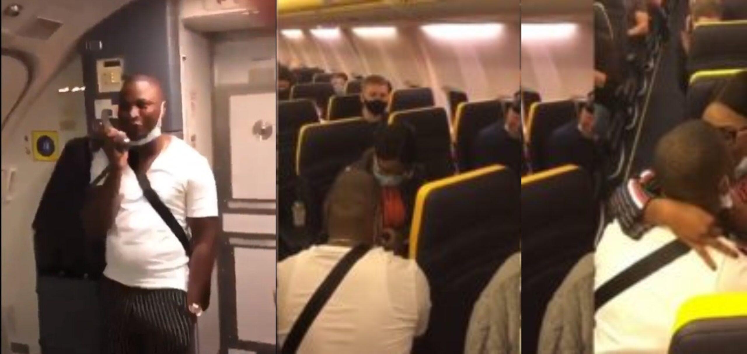 man-engage-international-flight