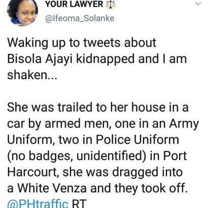 bisola-ajayi-kidnap-tweet