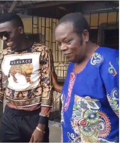 Akpororo with Mr. Oluwole