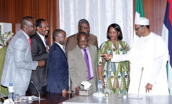 Photos- Buhari meets with PENCOM officials theinfong.com