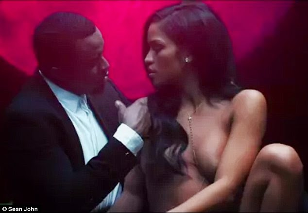 Cassie strips completely naked for Diddy