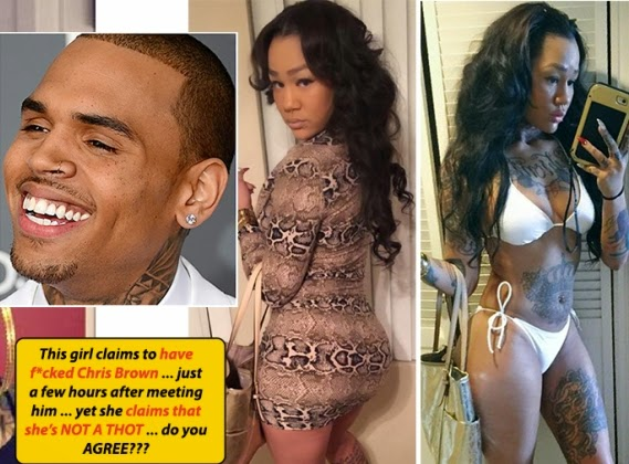 Girl brags about sleeping with Chris Brown the first day she met him (text messages) theinfong.com