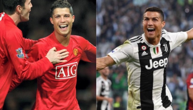 Cristiano Ronaldo Manchester United and Juventus days