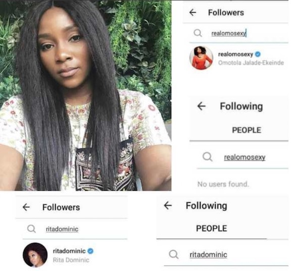 Genevieve Nnaji unfollows Omotola Jalade and Rita Dominic
