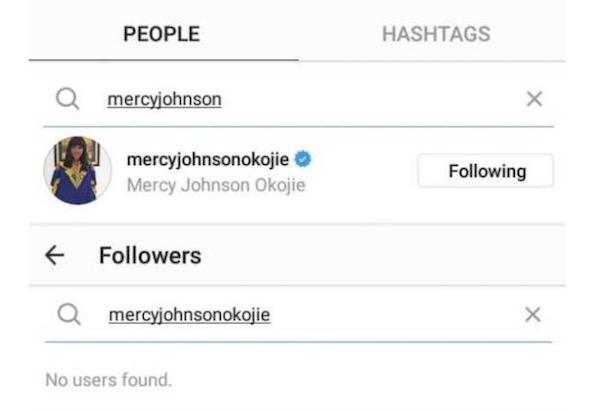 Follower checker for Tonto Dikeh, Mercy Johnson and Halima Abubakar