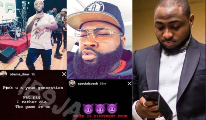 Davido's record label crew members fight themselves