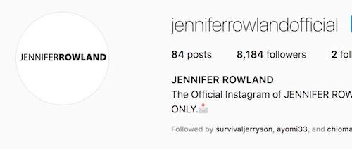 Jenniferrowlandofficial on Instagram